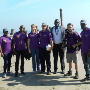 Support crew with President of Walvis Bay Rotary at Launch