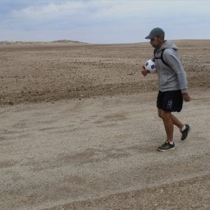 Day 4 - Walking into a strong headwind on day 4