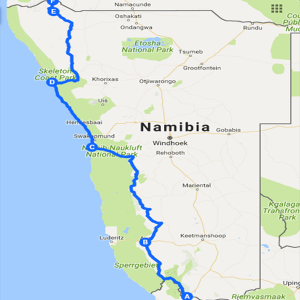 Proposed route (subject to minor variation)