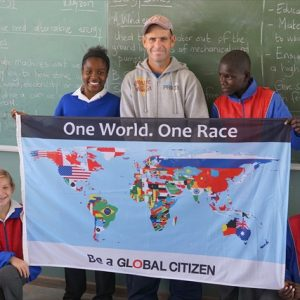Swakopmund - Visiting schools with Global Citizen Flag