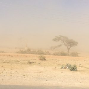 Day 37 - Hit by a dust storm on my way into Opuwo