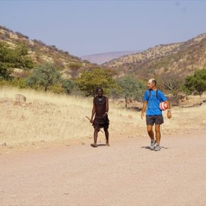 Day 41 - Traditional Himba elder walked with me for a few km
